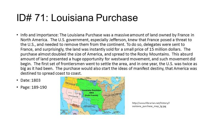 Thesis statement for louisiana purchase
