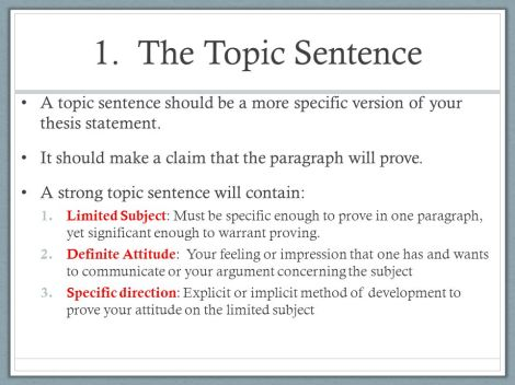 Howto Write A Topic Sentence For Hero Composition