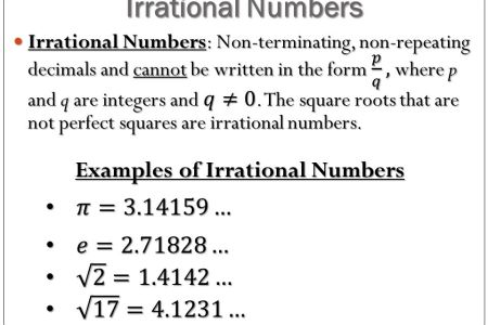 Examples Of Rational And Irrational Numbers Path Decorations