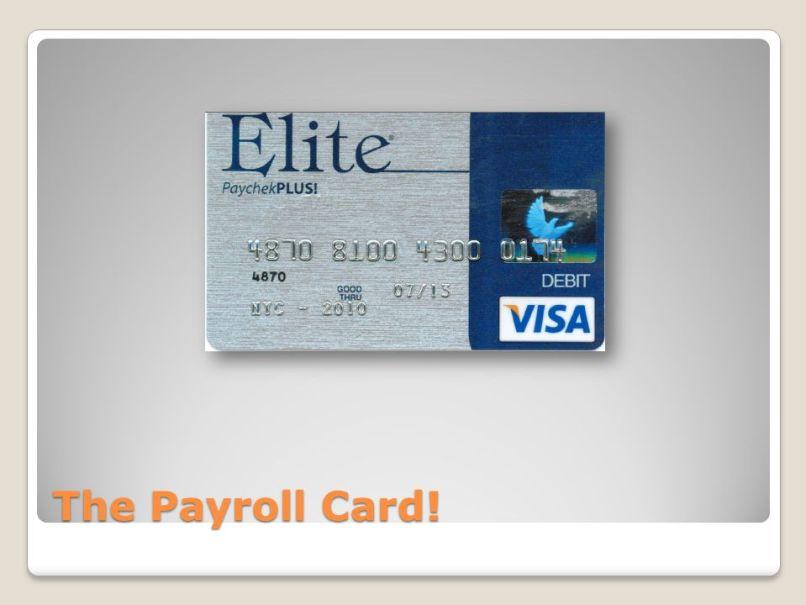 elite visa payroll card mamiihondenk org - Visa Payroll Card