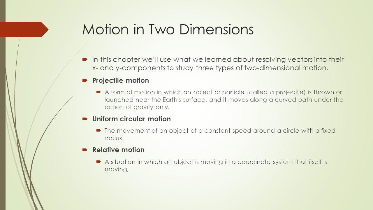 Moti Two Dimensi S Ch Pter 6 Moti Two Dimensi S 