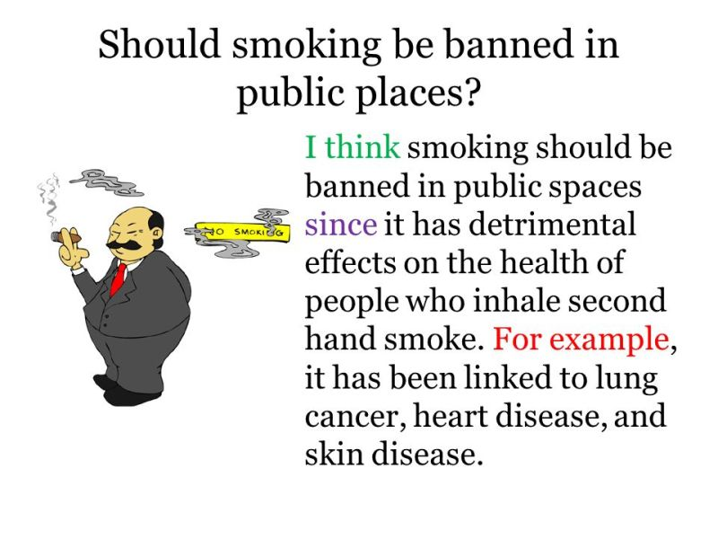 argumentative essays on banning smoking in public places