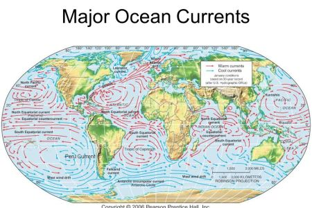 World s major ocean currents 4k pictures 4k pictures full hq bbc higher bitesize geography atmosphere revision world pattern of ocean currents world map showing major ocean currents by salinity levels warm world map gumiabroncs Choice Image