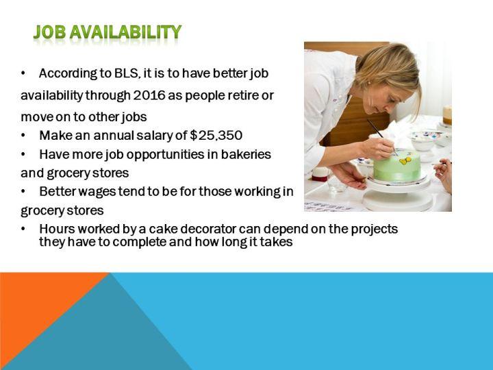 cake decorator job description