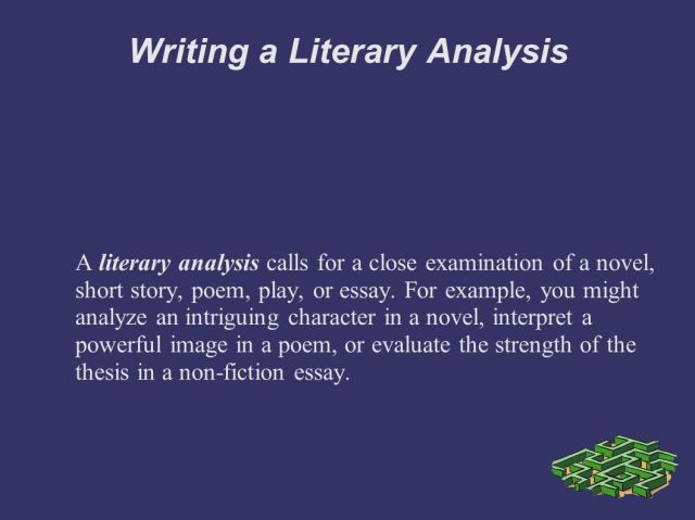 Writing a Literary Analysis Personal Response: You explore your