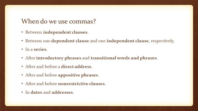 Punctuation in Academic Writing: Commas Save Lives! GRAMMAR