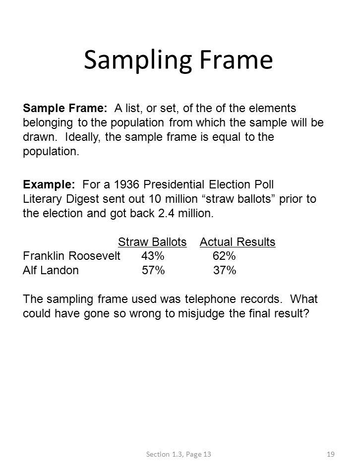 Define Sampling Frame In Statistics   Frameviewjdi.org