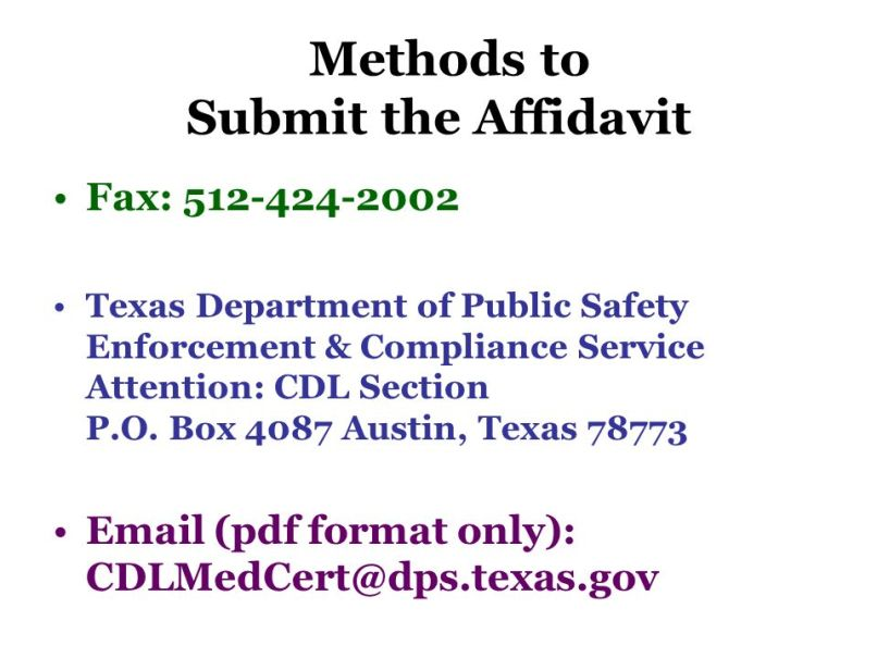 Motor Carrier Bureau Texas Department Of Public Safety Po Box 4087