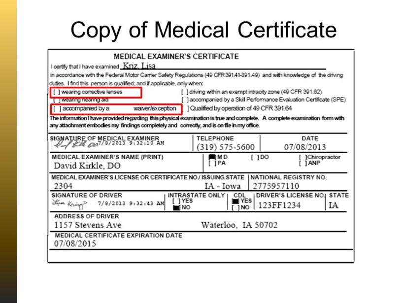 Nd Dot Cdl Medical Card Cardss