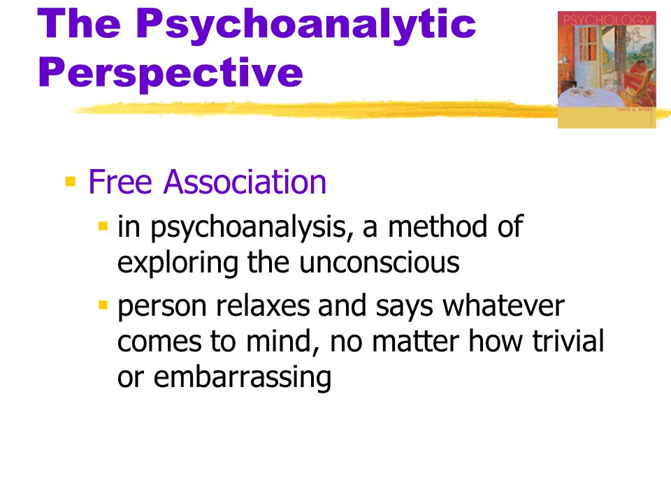 Image result for free association psychology definition