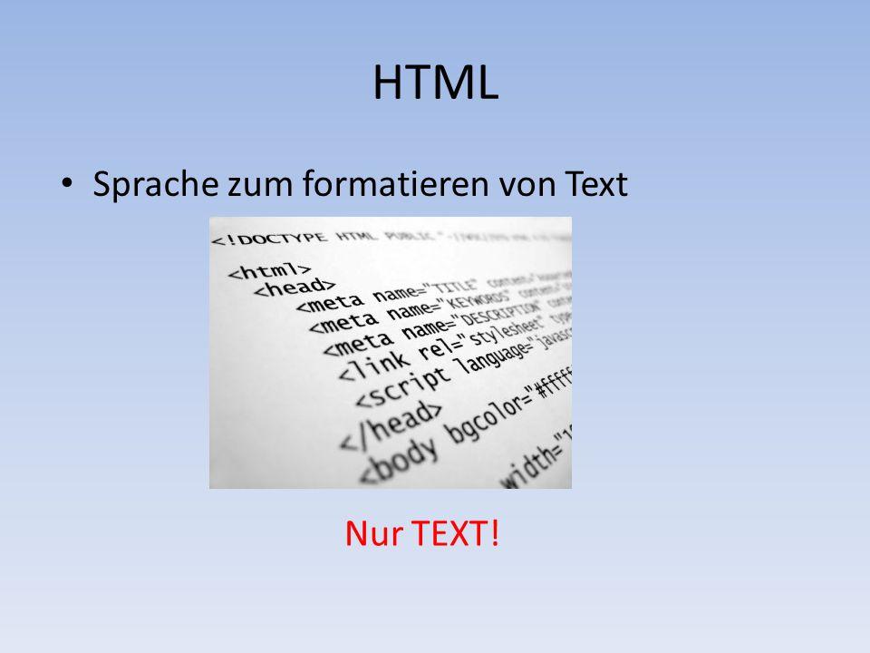 2 html sprache zum formatieren von text nur text