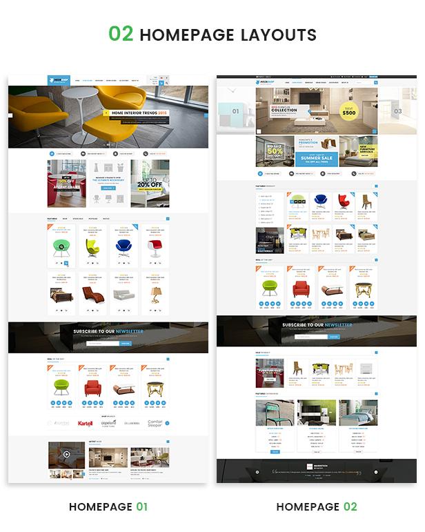 Opencart Fashion Theme - Website Layouts