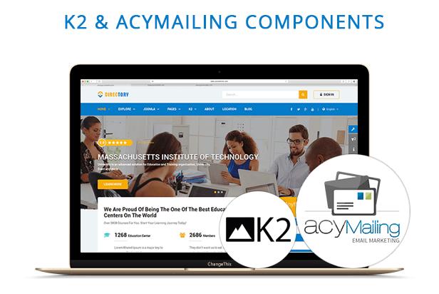 k2 & acymailing