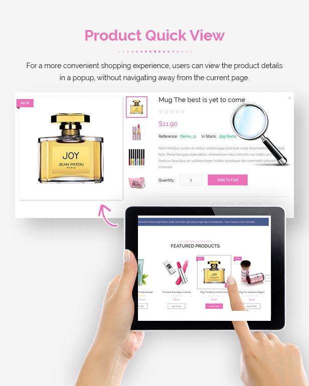 MoonLight - Modern Responsive PrestaShop 1.7 Cosmetics Theme - 5