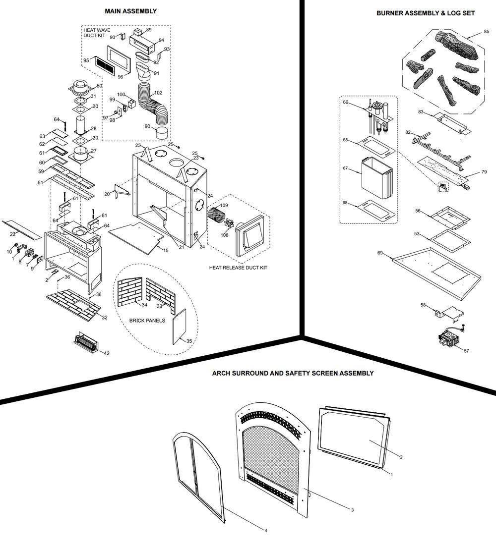 Regency Fireplace Spare Parts