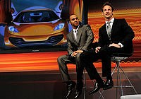 Formula One drivers Lewis Hamilton and Jenson Button launch  McLaren's new road car.