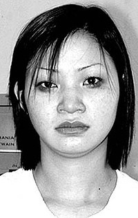 Phan Thi Kim Phuong... Arrested in 2002 after she admitted hiding  656 grams of heroin in the clothing of her younger sisters, aged 14 and  12.