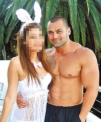 Missing . . . Hakan Ayik with a lingerie-clad companion.