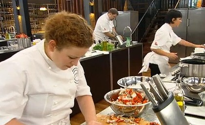 The action heats up in the MasterChef kitchen.