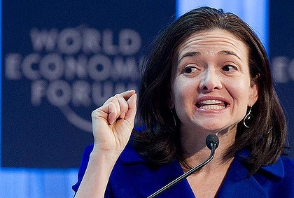 Facebook's Sheryl Sandberg ... dubbed the Justin Bieber of the tech world.