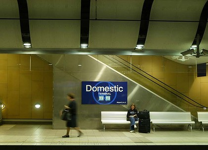 The Airport Link Railway Line.  The Mascot Railway Station.  Rail 050530 SMH News.Pic Steven Siewert SPECIALX SS050530