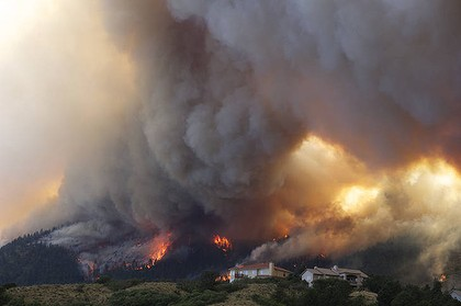 Fire from the Waldo Canyon wildfire destroyed homes in Colorado Springs.