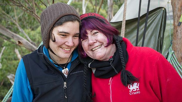 Miranda  Gibson with her mother, Glenys Gibson of Capalda, Queensland, who visited her last month.