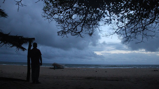 Megaraj Suresh, onthe beach in Batticaloa, says trying to come to  Australia was his worst mistake.