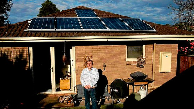 Keith Armstrong believes solar panels will cut his electricity bills in half.