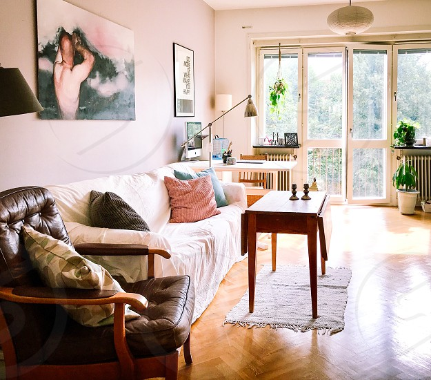 Photo By Susanne Alfredsson Living Room Home Apartment Furniture Sofa Table Windows Plants Lamps