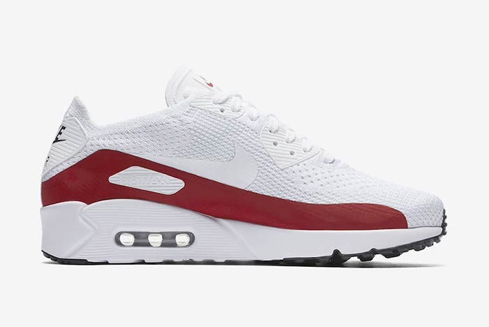 Nike Air Max 90 Flyknit Ultra 2.0 White Red
