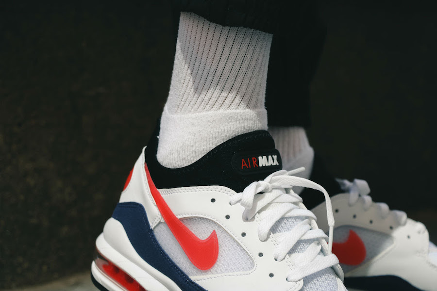 low priced fb225 e8f67 ... where to buy nike air max 93 og flame red on feet 86c83 96d4e