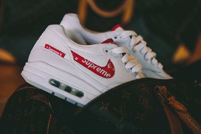 quality design new arrive hot sales Supreme x Louis Vuitton x Nike Air Max 1 – 7Hues Magazine