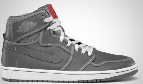 Air Jordan 1 Retro KO High Premium Light Graphite Back Varsity Red