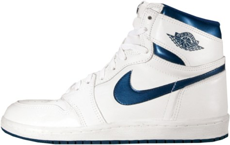Air Jordan 1 High White Metallic Blue