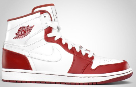 Air Jordan 1 High Retro White White Varsity Red