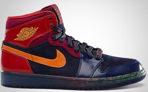 Air Jordan 1 Retro High YOTS Blackened Blue Bright Citrus Hyper Red