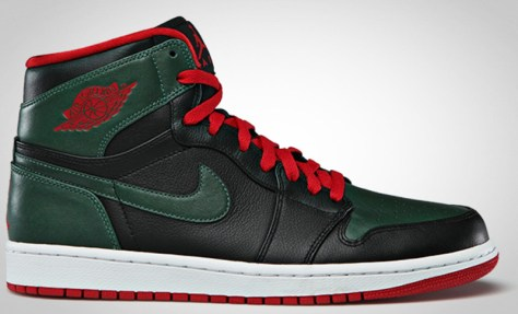 Air Jordan 1 Retro High Black Gym Red Gorge Green White