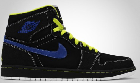 Air Jordan 1 High Retro Black Cyber Black Blue Sapphire