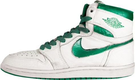 Air Jordan 1 High White Metallic Green