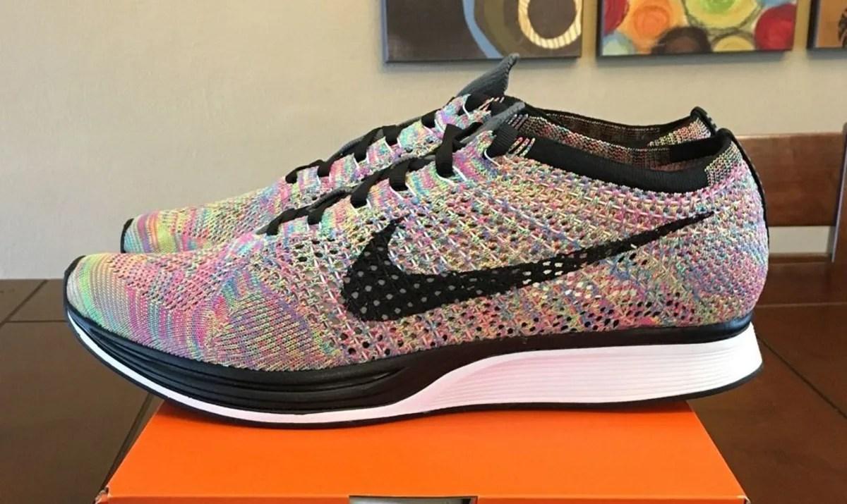 Multicolor Nike Flyknit Racer Grey Tongue 2016 Sole
