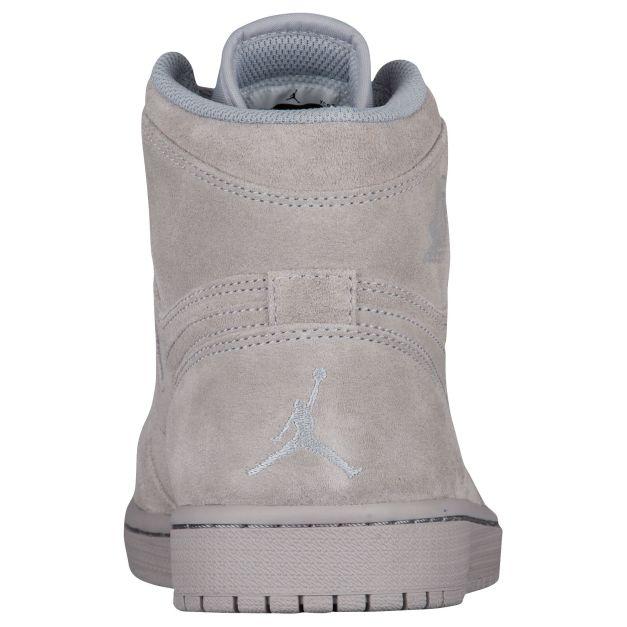 Air Jordan 1 Wolf Grey Suede Release Date Heel