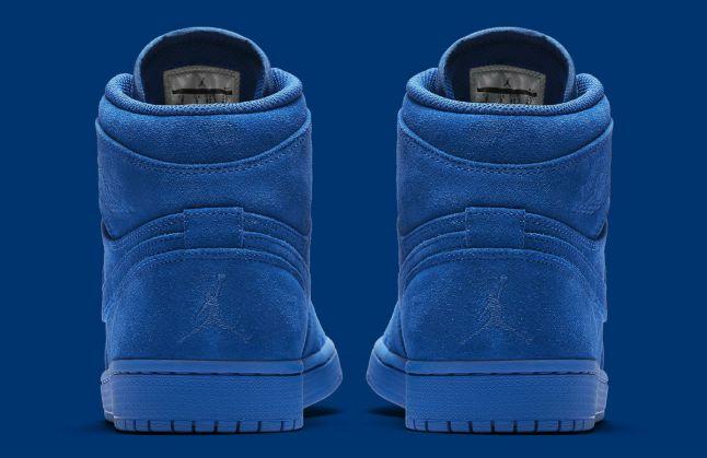 Air Jordan 1 High Blue Suede Release Date Heel 332550-404