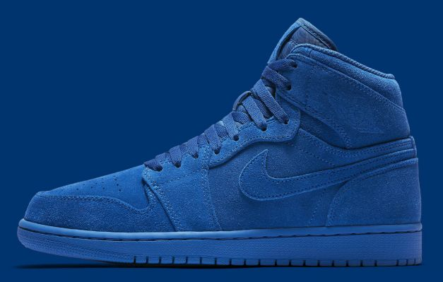 Air Jordan 1 High Blue Suede Release Date Profile 332550-404