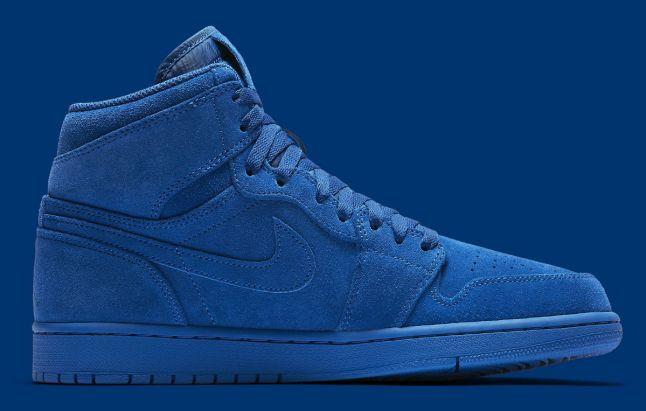 Air Jordan 1 High Blue Suede Release Date Medial 332550-404