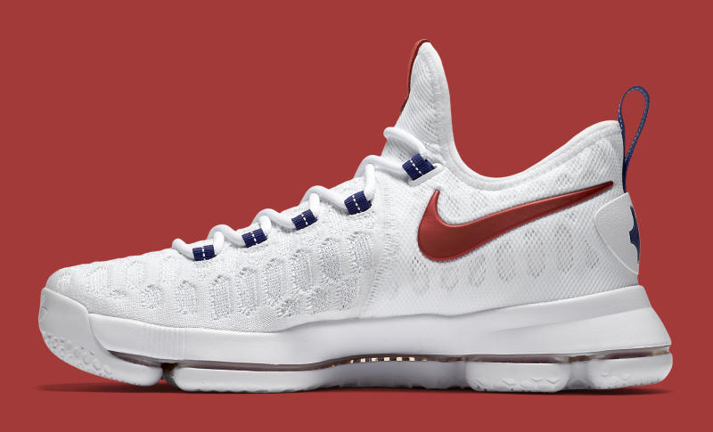 61dbfbb9897 ... good nike kd 9 usa release date 06 27 16. color white university red  race ...