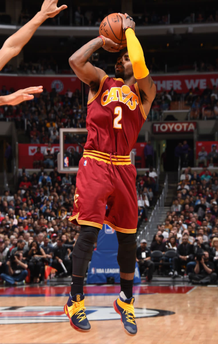 Kyrie Irving Wears The Ky Reer High Nike Kyrie 2 Sole Collector