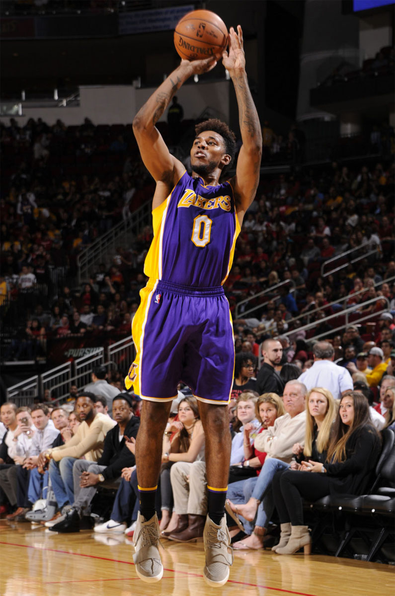 Nick Young Is The First Player To Wear Adidas Yeezy 750
