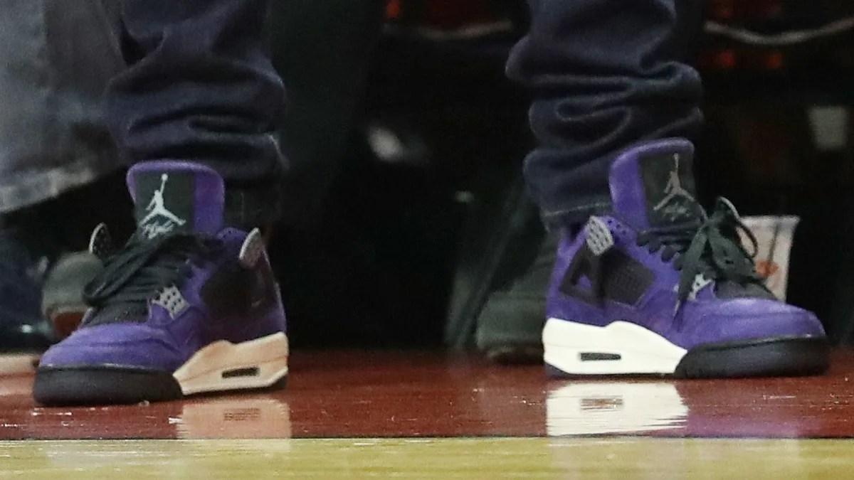 Purple And Black Air Jordan Shoes