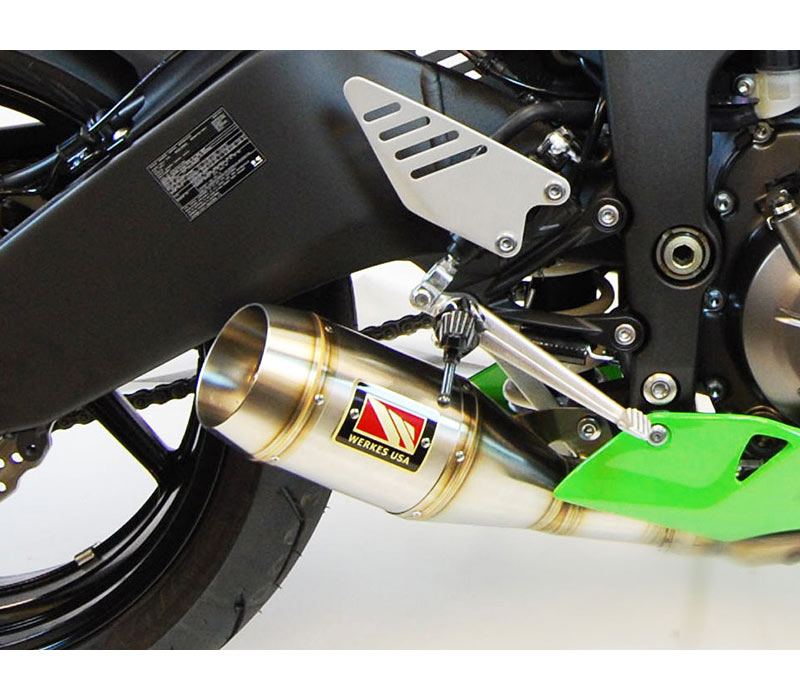 competition werkes gp slip on exhaust for zx6r 13 18